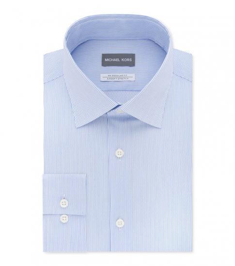 Michael Kors French Blue Regular Fit Air Soft Stretch Shirt