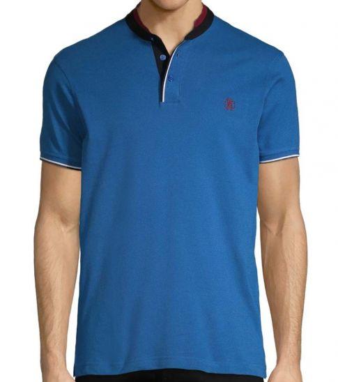Roberto Cavalli Bluette Mockneck Cotton Polo