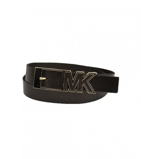 Michael Kors Choco Mk Logo Buckle Belt