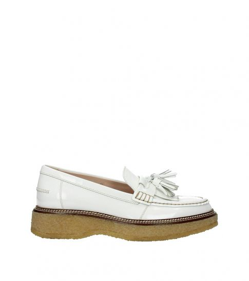 Tod's White Tassels Front Loafers