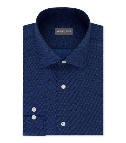 Michael Kors Navy Regular Fit Air Soft Stretch Shirt