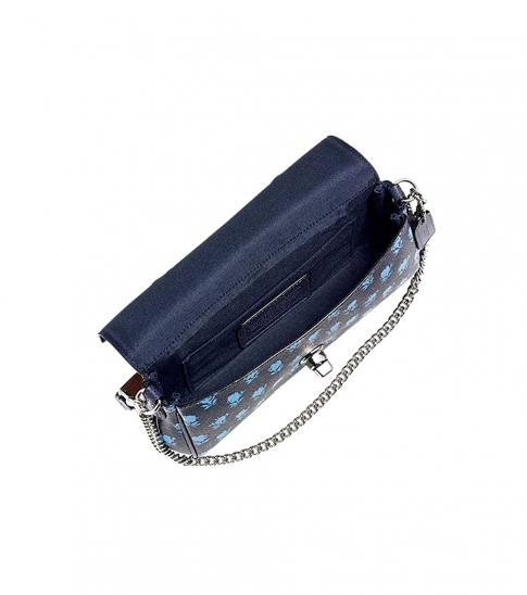 Coach Navy Blue Turnlock Small Shoulder Bag