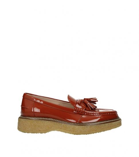 Tod's Brown Tassels Front Loafers