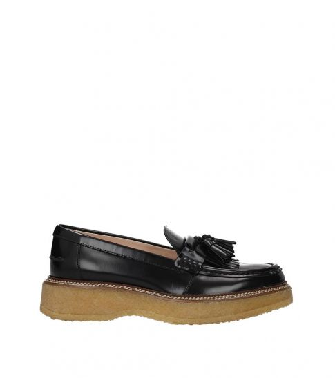 Tod's Black Tassels Front Loafers