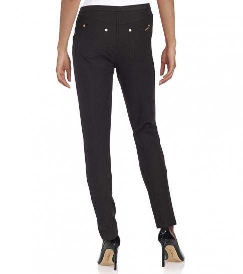 Michael Kors Black Solid Knit Leggings