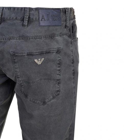 Armani Jeans Dark Grey Slim Fit Jeans
