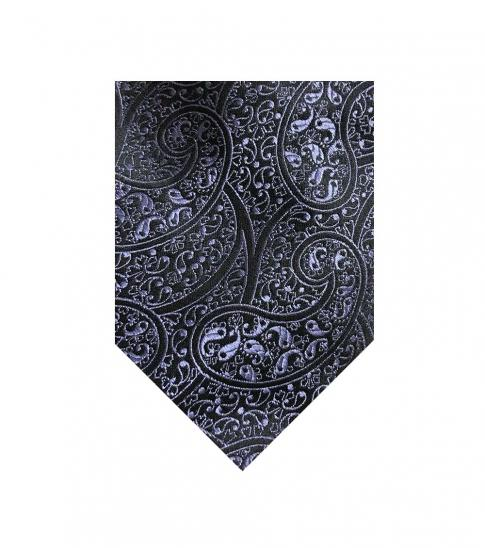 Valentino Garavani Purple-Black Paisley Tie