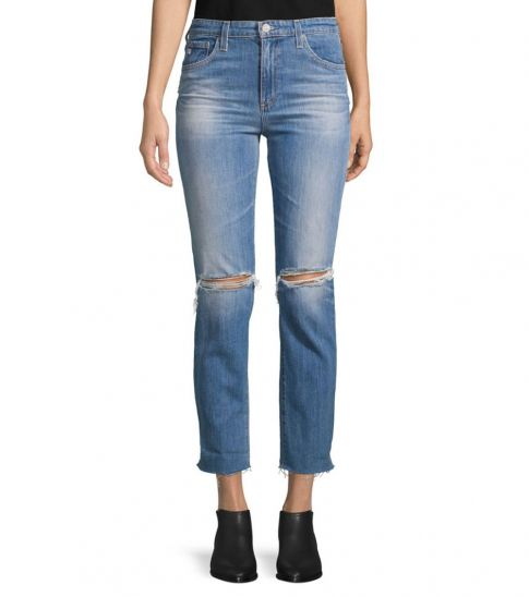 AG Adriano Goldschmied Years Isabelle High-Rise Crop Jeans