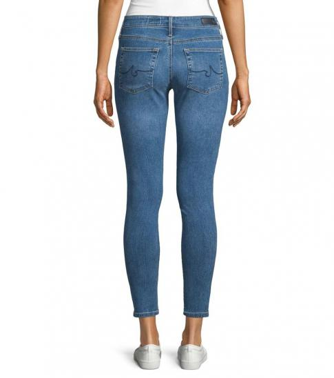 AG Adriano Goldschmied Dark Blue Mid-Rise Skinny Ankle Jeans