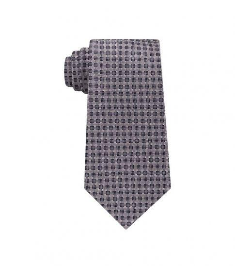Michael Kors Grey Modern Geo Slim Silk Tie