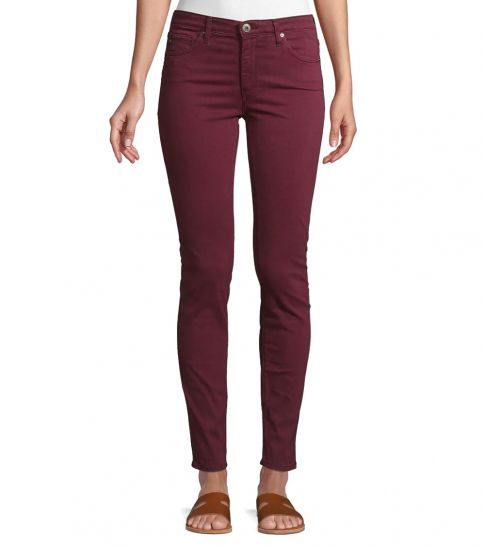 AG Adriano Goldschmied Cherry Sulfur Rich Prima Sateen Skinny Jeans