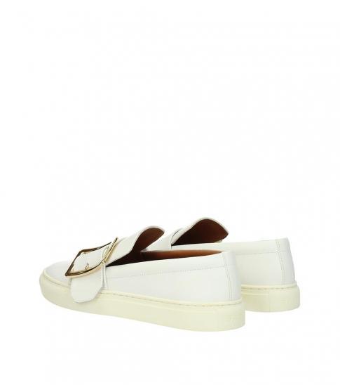 Bally White Heska Loafers