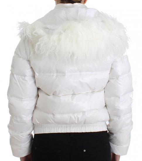Just Cavalli White Puffer Jacket