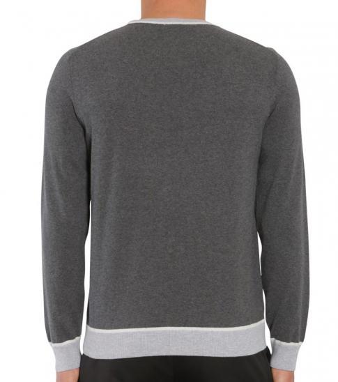 Hugo Boss Grey Marcelli Colourblock Sweater