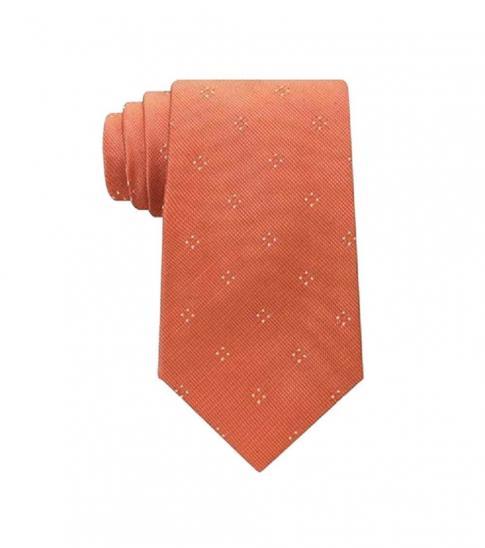Michael Kors Orange Well Tailored Point Slim Silk Tie