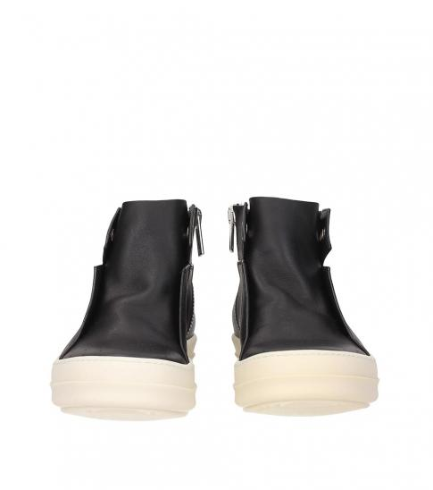 Rick Owens Black Leather Classic Sneakers