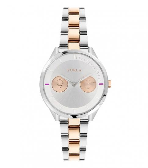 Furla Silver Metropolis Two-Tone Watch