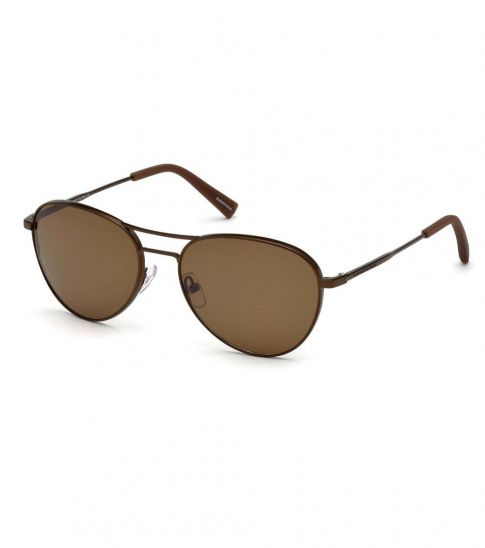 Ermenegildo Zegna Matte Light Bronze Aviator Sunglasses