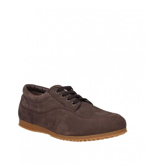 Hogan Brown Plain Pattern Sneakers