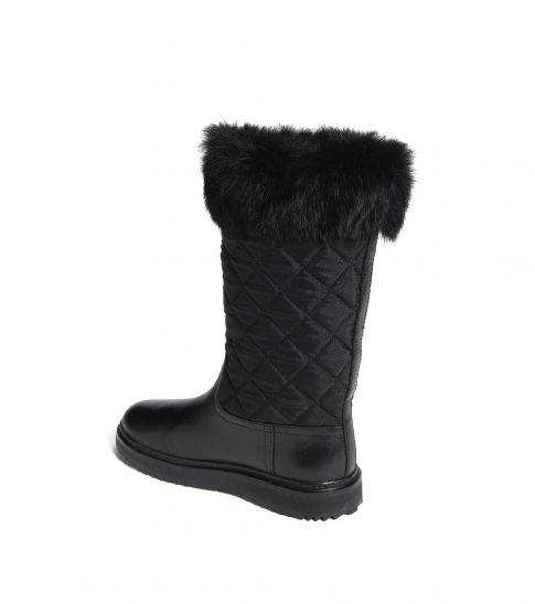 Tory Burch Black Fur Fur Joey Boots