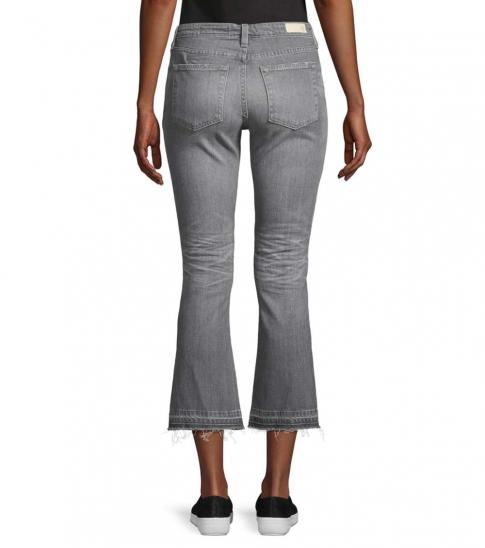 AG Adriano Goldschmied Grey Slim-Fit High-Rise Flare Jeans