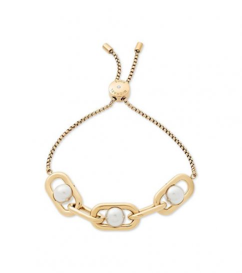 Michael Kors Gold Pearl Links Slider Bracelet