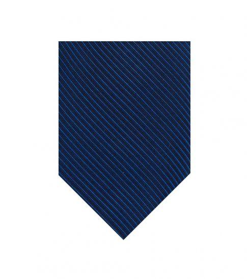 Calvin Klein Navy King Cord II Tonal Stripe Tie