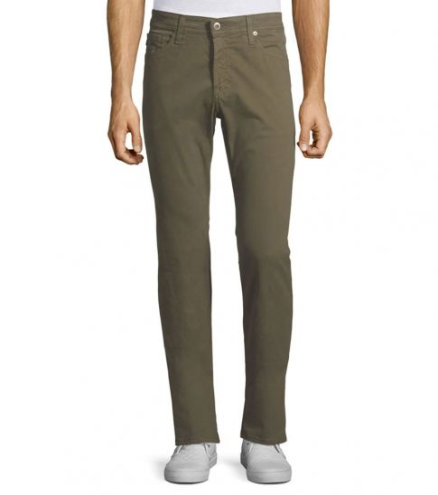 AG Adriano Goldschmied Sulfur Green Graduate Slim Straight-Fit Jeans