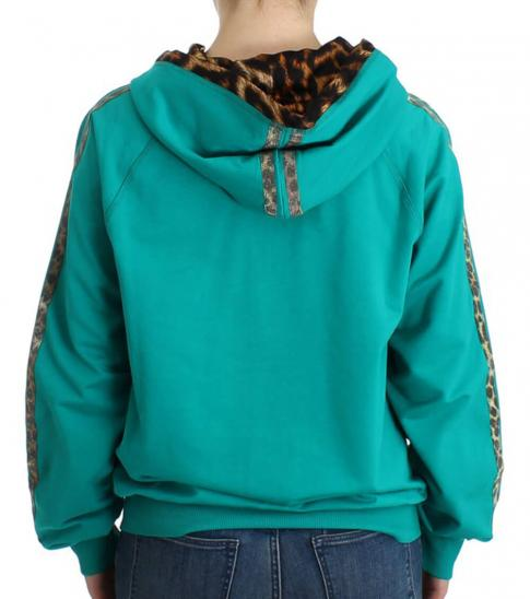 Just Cavalli Turquoise Zip Up Jacket