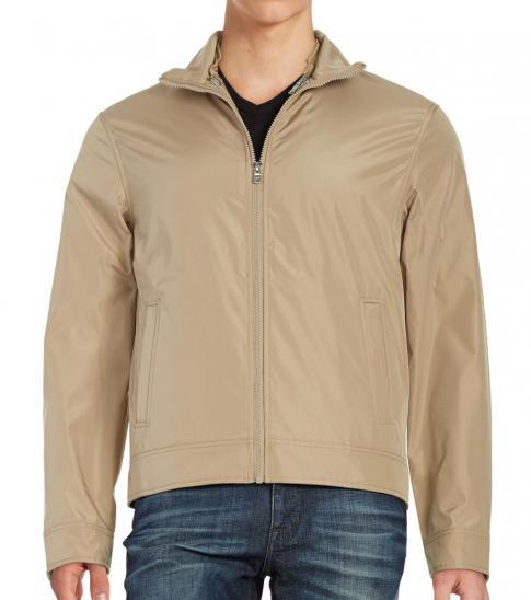 Michael Kors Beige Convertible Zip-Front Jacket
