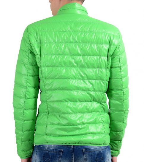 Emporio Armani Green Full Zip Hooded Light Parka Jacket