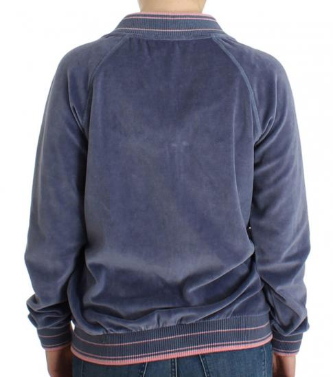 Just Cavalli Blue Zip Up Jacket