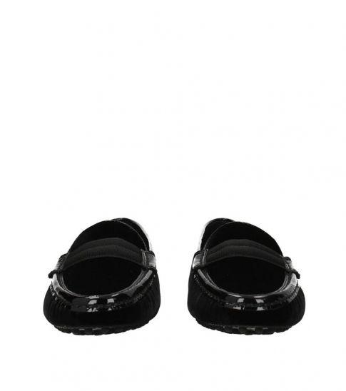 Tod's Black Velvet Loafers