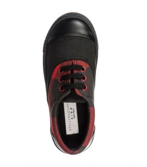 Stella McCartney Black Red Rooster Sneakers