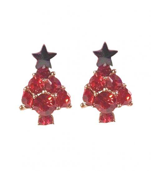 Betsey Johnson Red Stylish Christmas Tree Earrings