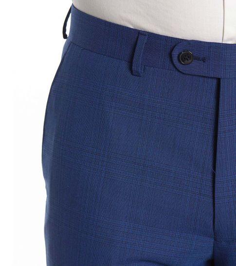 Vince Camuto Royal Blue Plaid Notch Slim Fit Suit