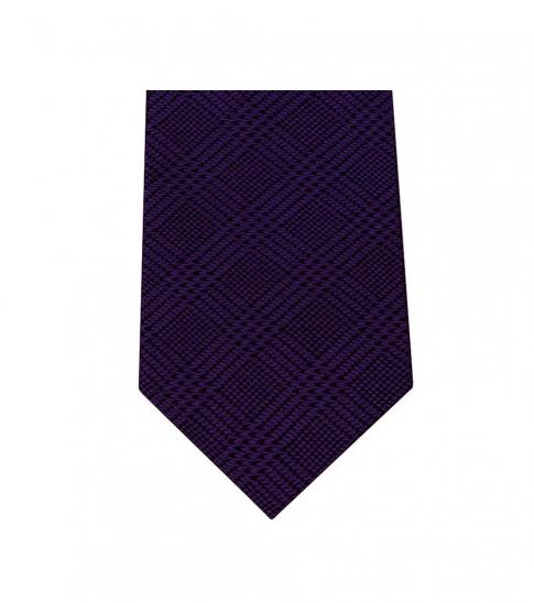 Michael Kors Purple Modern Striped Slim Silk Tie