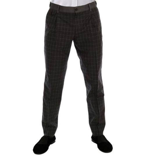 Dolce & Gabbana Grey Check Stretch Pants