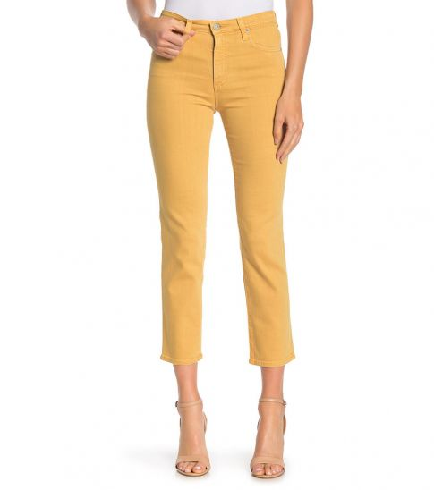 AG Adriano Goldschmied Mustard Isabelle High-Rise Straight Jeans