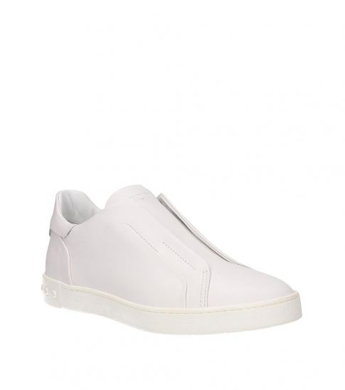 Tod's White Laceless Sneakers for Women
