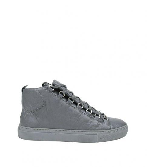 Balenciaga Grey Arena Hi Top Sneakers