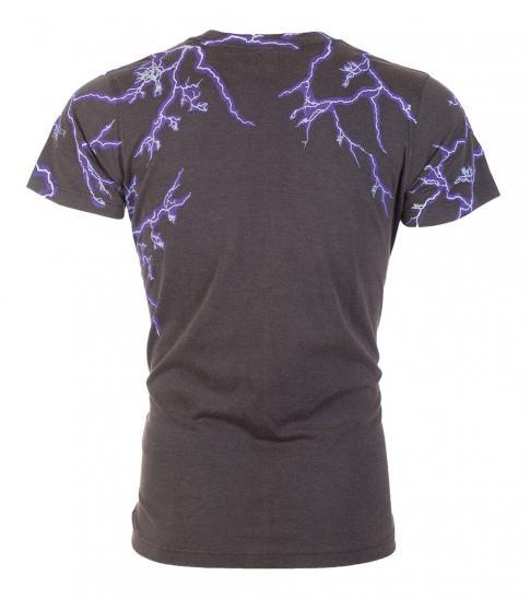 Diesel Dark Grey Casual Graphic T-Shirt