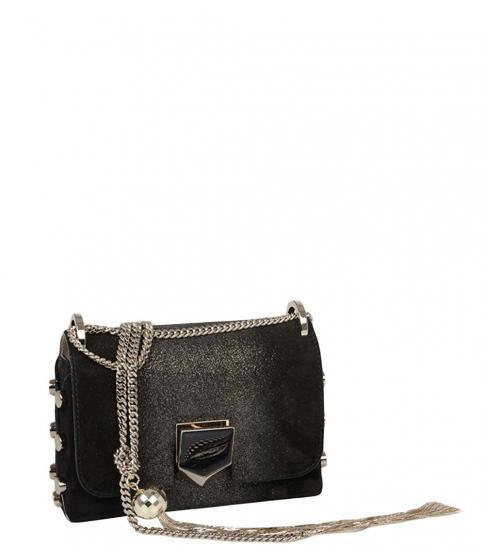 Jimmy Choo Black Lockett Mini Shoulder Bag