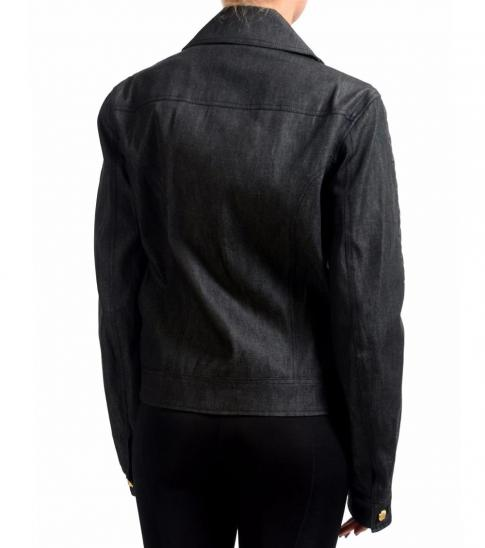 Versus Versace Black Full Zip Basic Jacket