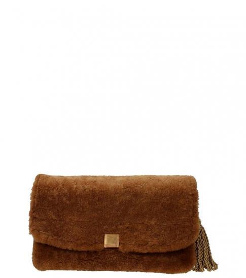 Golden Goose Brown Fur Clutch