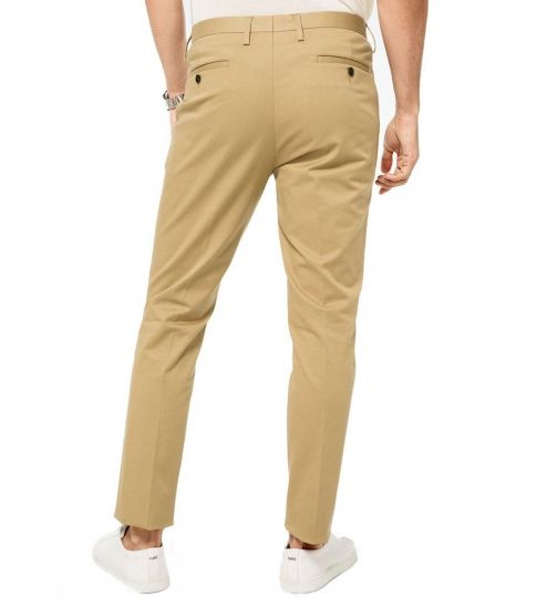 Michael Kors Khaki Slim-Fit Stretch-Cotton Trousers