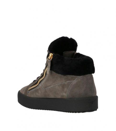 Giuseppe Zanotti Black High Top Suede Sneakers