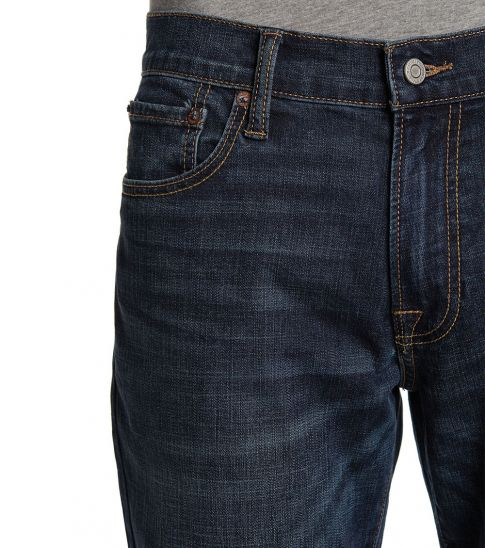 Lucky Brand Dark Blue Gregory Straight Fit Jeans