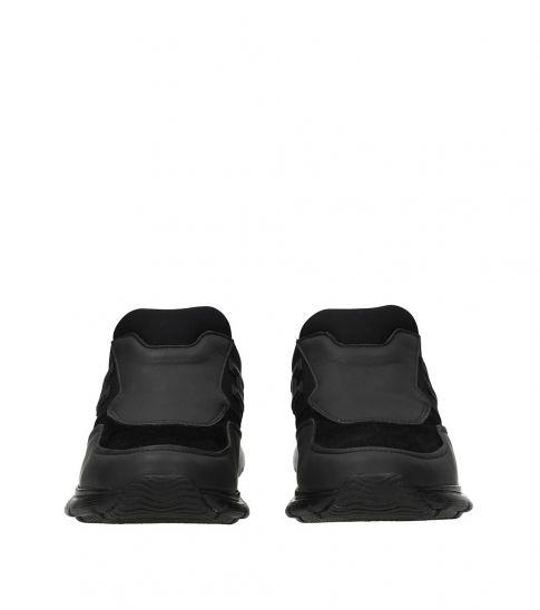 Hogan Black Slip On Sneakers
