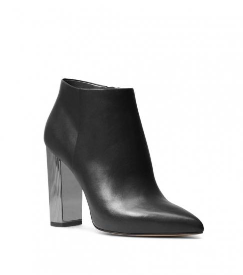 Michael Kors Black Paloma Leather Booties